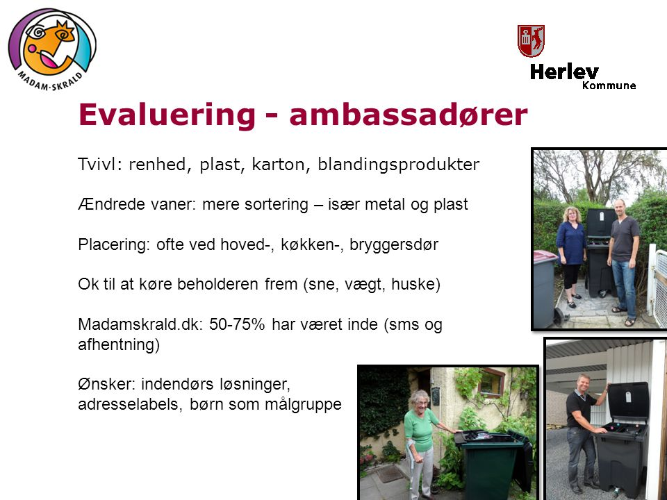 Evaluering - ambassadører