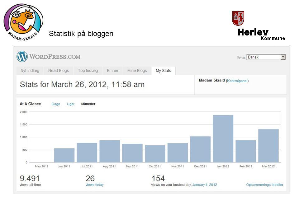 Statistik på bloggen
