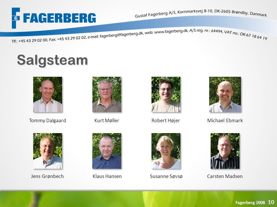 Salgsteam Tommy Dalgaard Kurt Møller Robert Højer Michael Ebmark