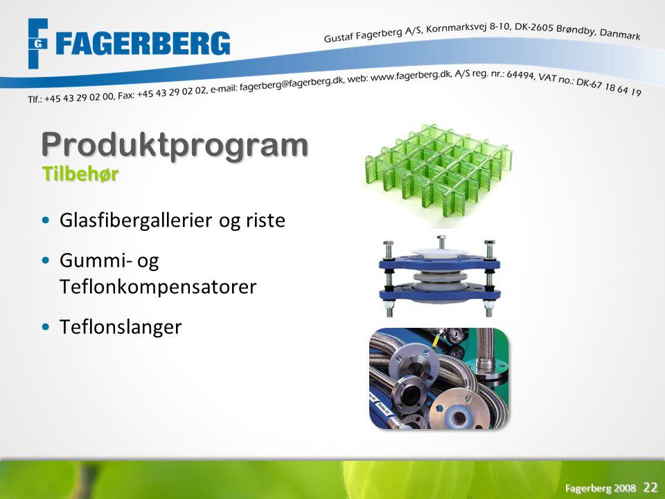 Produktprogram Tilbehør Glasfibergallerier og riste
