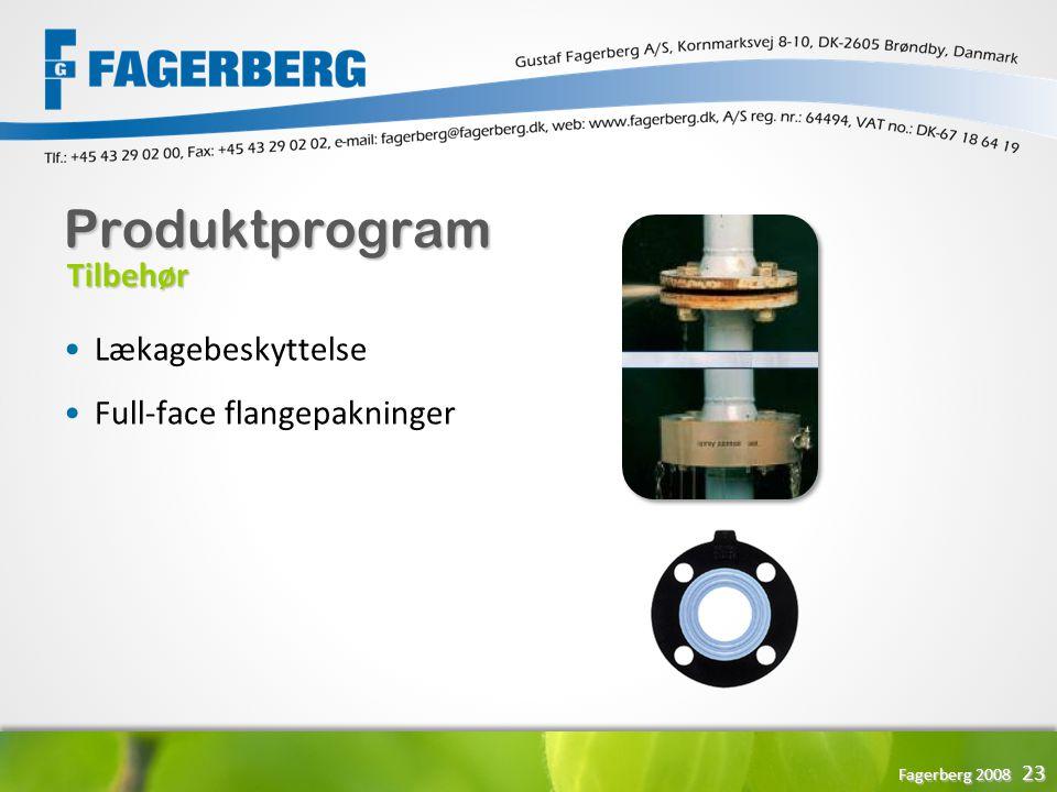 Produktprogram Tilbehør Lækagebeskyttelse Full-face flangepakninger