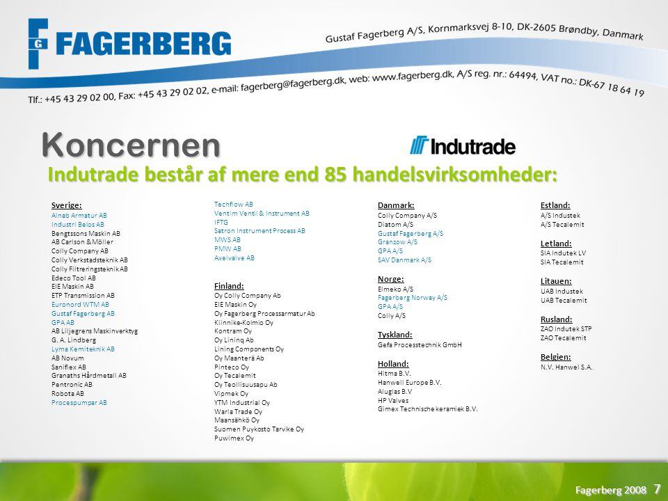Koncernen Indutrade består af mere end 85 handelsvirksomheder: