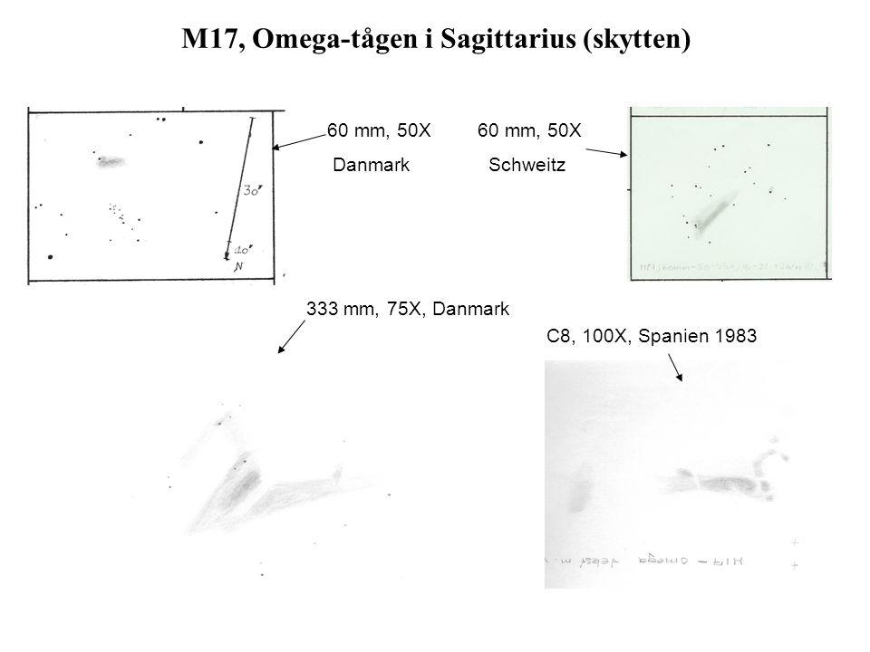 M17, Omega-tågen i Sagittarius (skytten)