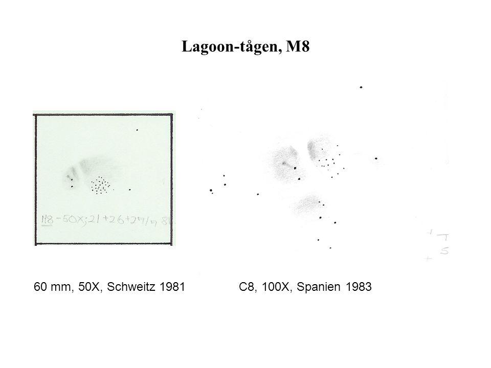 Lagoon-tågen, M8 60 mm, 50X, Schweitz 1981 C8, 100X, Spanien 1983