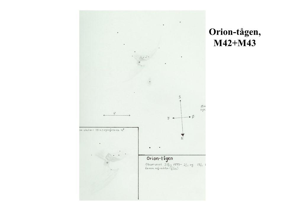 Orion-tågen, M42+M43