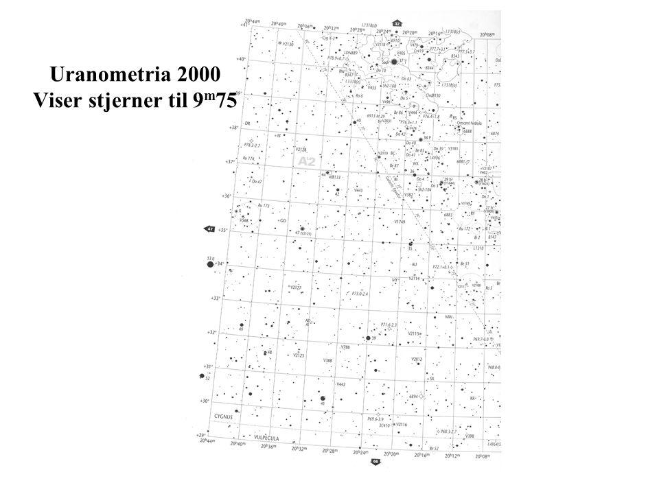 Uranometria 2000 Viser stjerner til 9m75