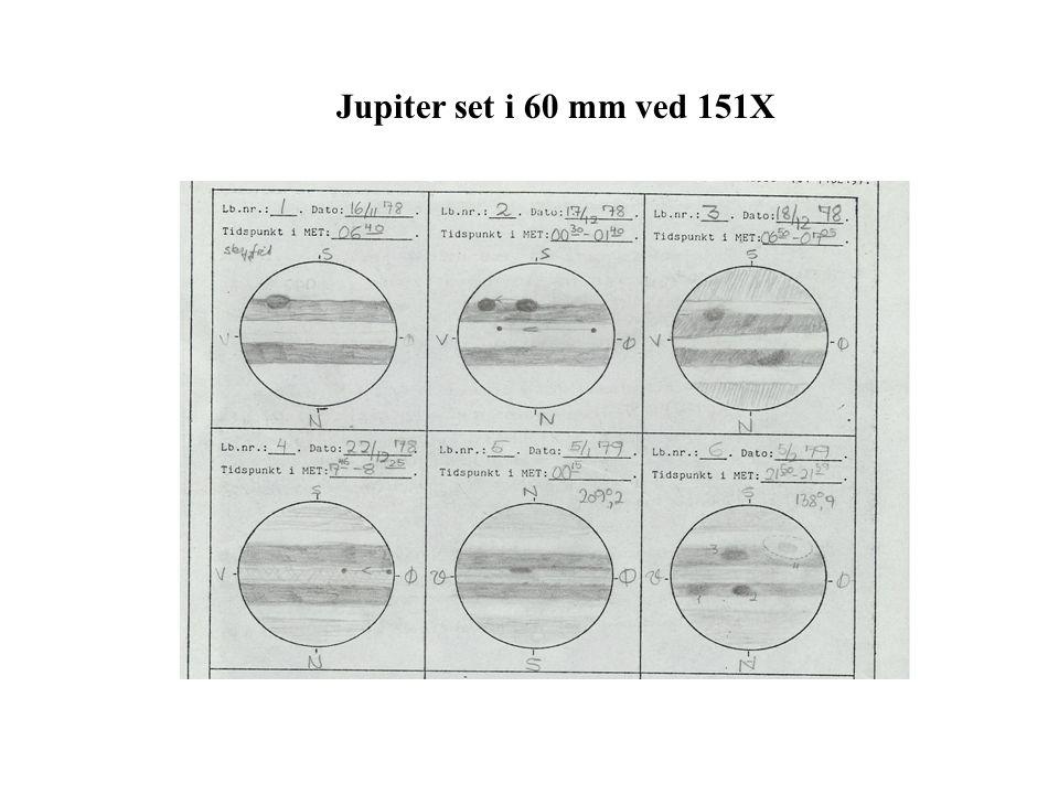 Jupiter set i 60 mm ved 151X