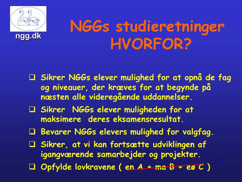 NGGs studieretninger HVORFOR