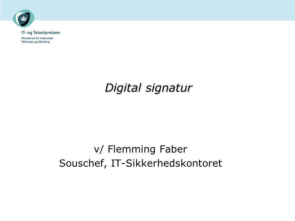 v/ Flemming Faber Souschef, IT-Sikkerhedskontoret
