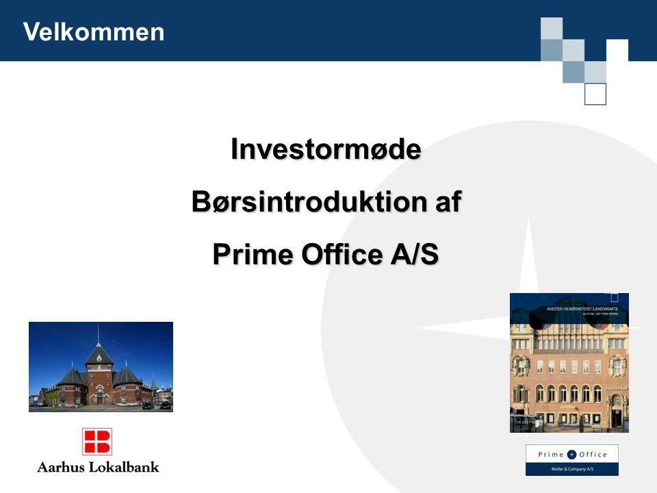 Investormøde Børsintroduktion af Prime Office A/S