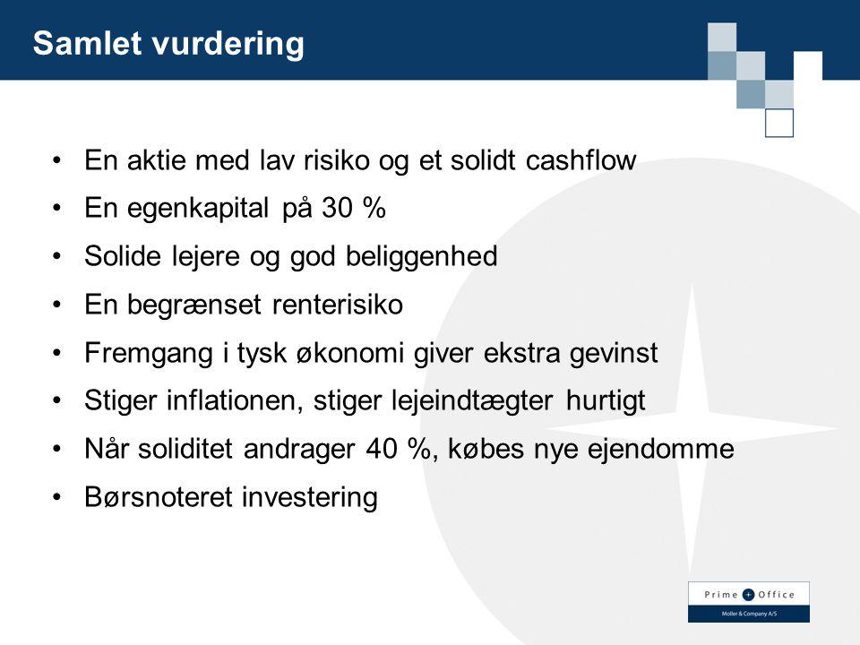 Samlet vurdering En aktie med lav risiko og et solidt cashflow