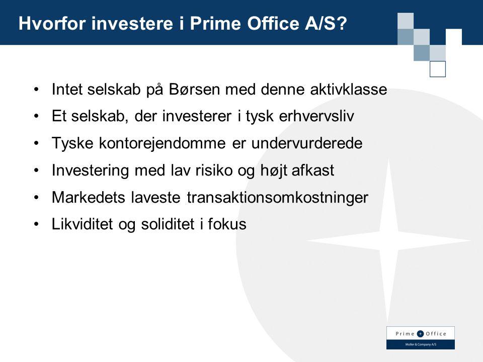 Hvorfor investere i Prime Office A/S