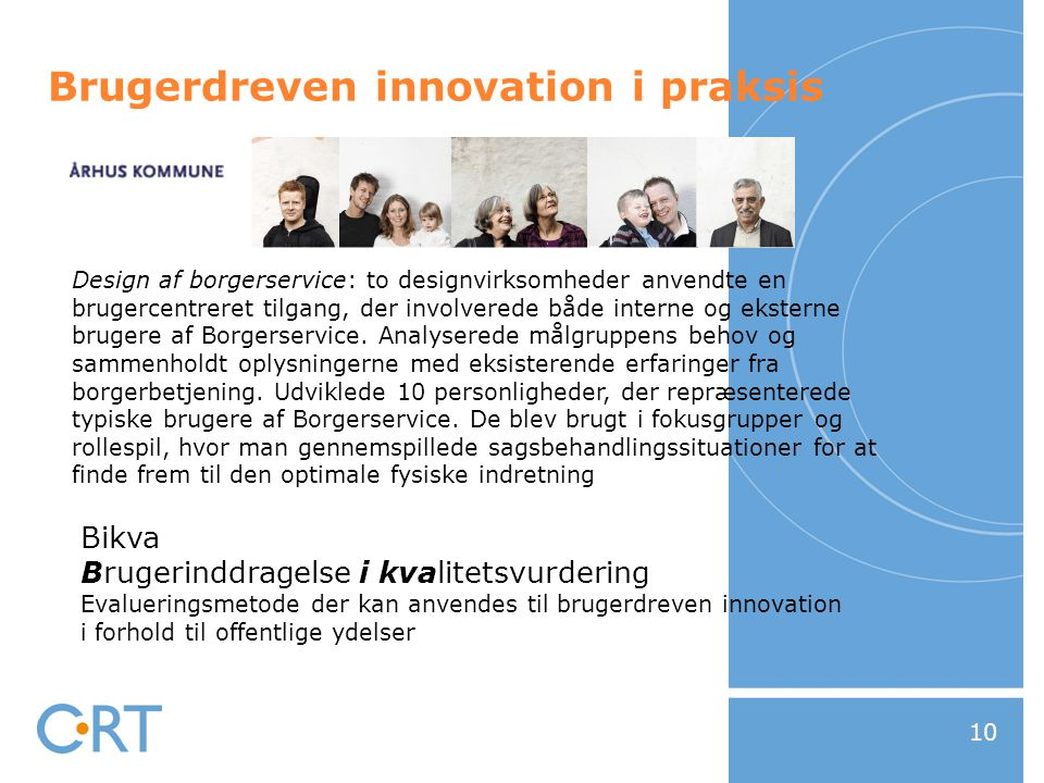 Brugerdreven innovation i praksis
