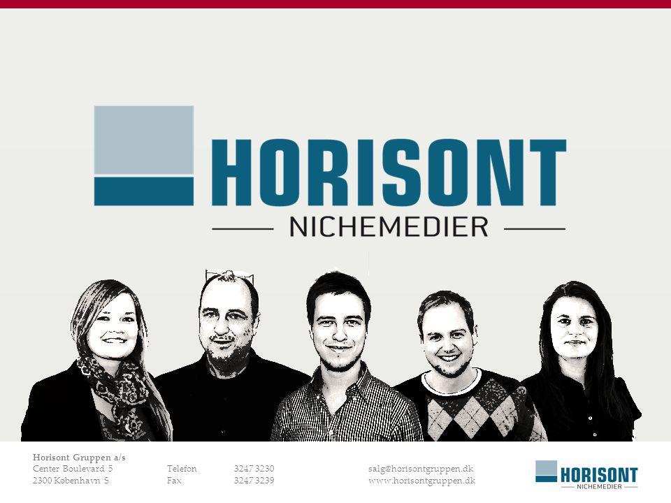 Horisont Gruppen a/s Center Boulevard 5 Telefon 3247 3230 salg@horisontgruppen.dk.