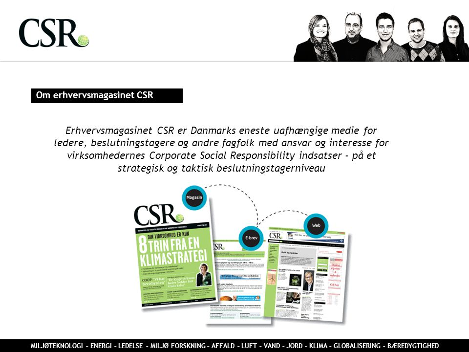 Om erhvervsmagasinet CSR