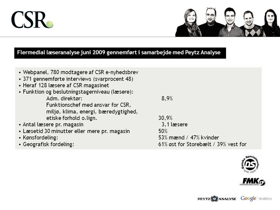 Flermedial læseranalyse juni 2009 gennemført i samarbejde med Peytz Analyse
