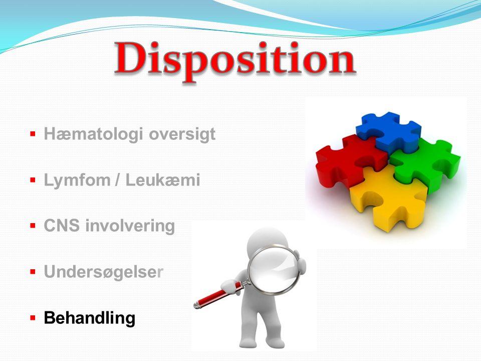 Disposition Hæmatologi oversigt Lymfom / Leukæmi CNS involvering