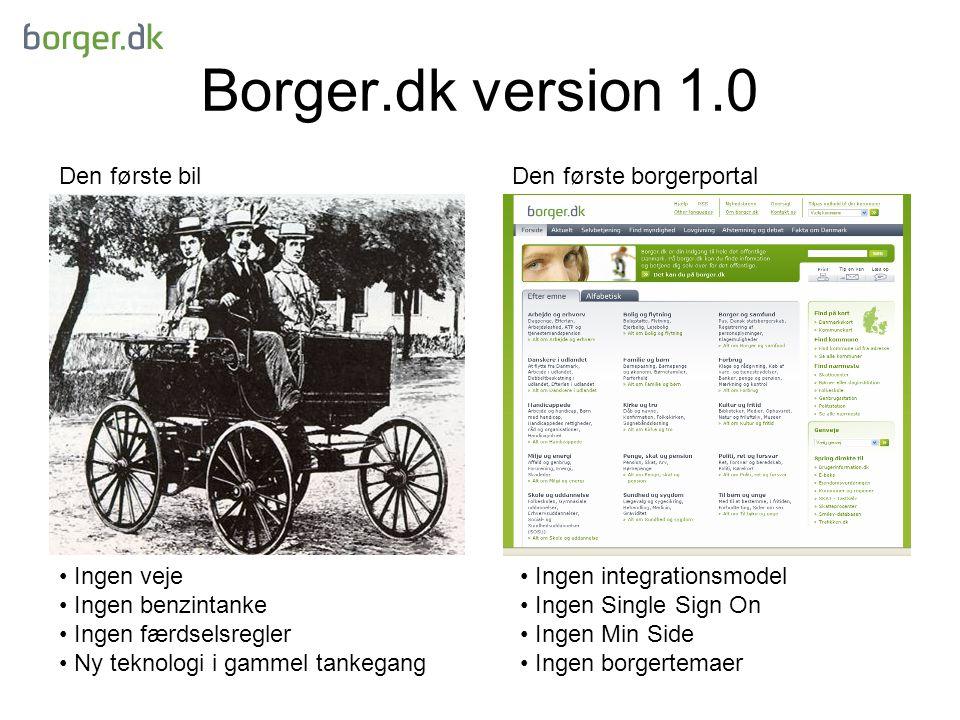 Borger.dk version 1.0 Den første bil Den første borgerportal