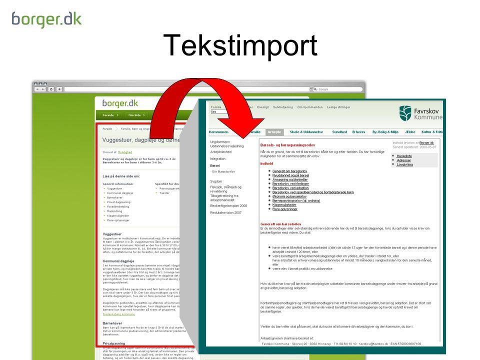 Tekstimport