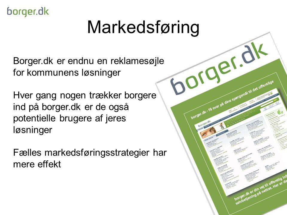 Markedsføring Borger.dk er endnu en reklamesøjle for kommunens løsninger.