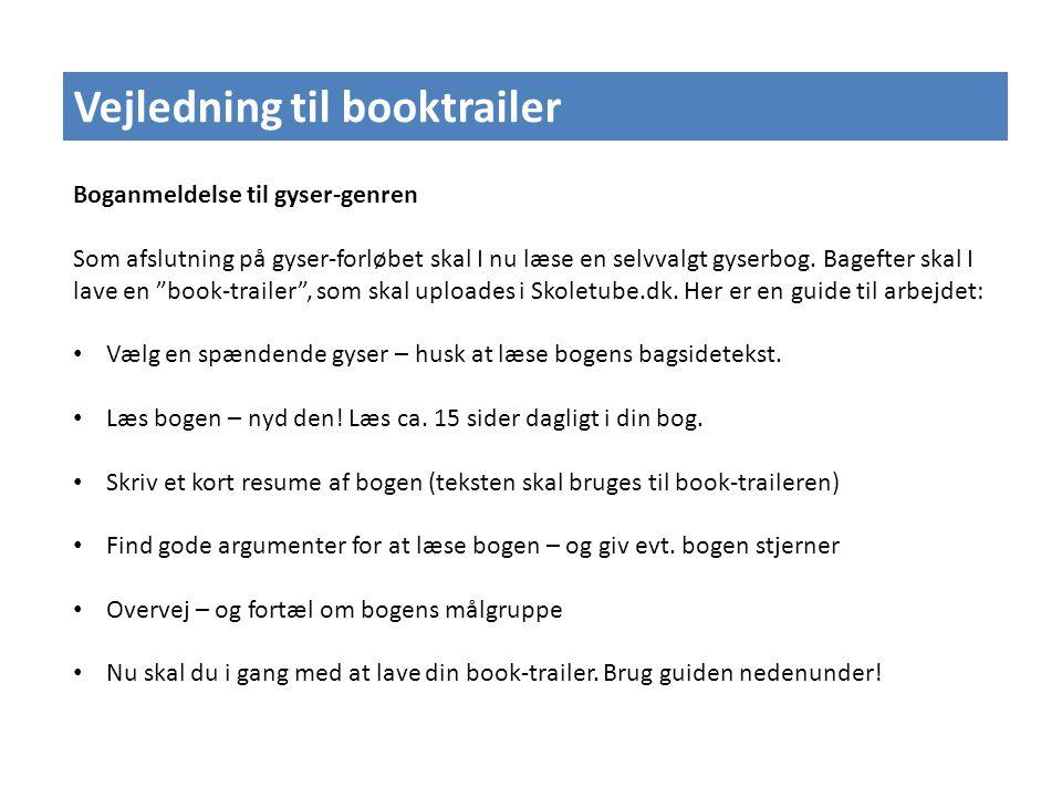 Vejledning til booktrailer