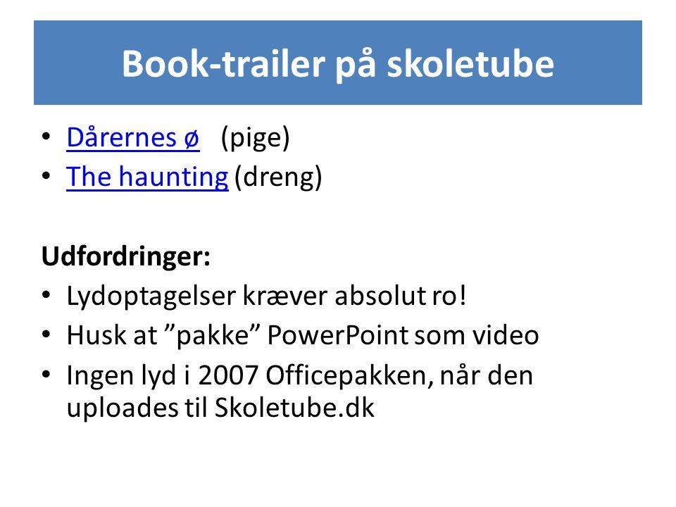 Book-trailer på skoletube