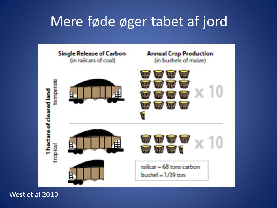 Mere føde øger tabet af jord