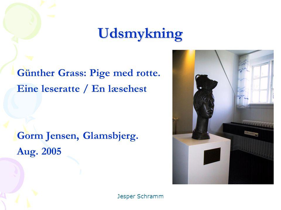 Udsmykning Günther Grass: Pige med rotte. Eine leseratte / En læsehest