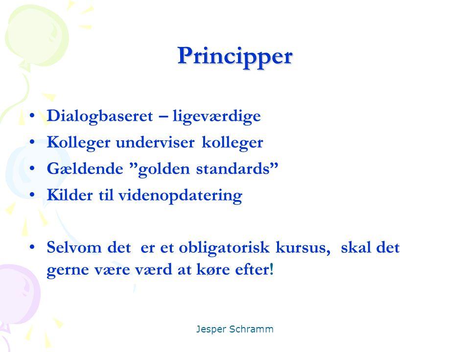 Principper Dialogbaseret – ligeværdige Kolleger underviser kolleger