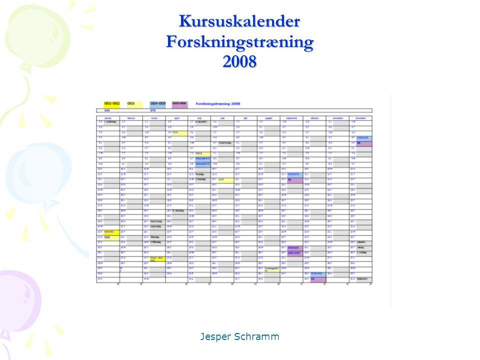 Kursuskalender Forskningstræning 2008