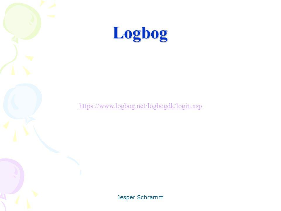 Logbog https://www.logbog.net/logbogdk/login.asp Jesper Schramm