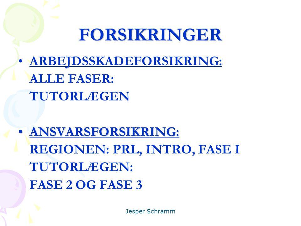 FORSIKRINGER ARBEJDSSKADEFORSIKRING: ALLE FASER: TUTORLÆGEN