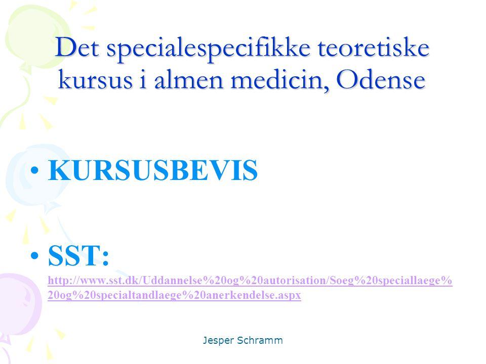 Det specialespecifikke teoretiske kursus i almen medicin, Odense