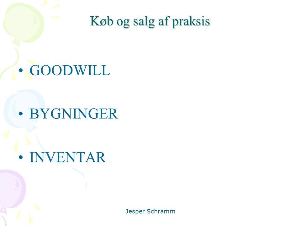 Køb og salg af praksis GOODWILL BYGNINGER INVENTAR Jesper Schramm