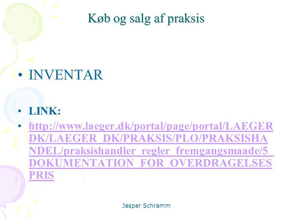 INVENTAR Køb og salg af praksis LINK: