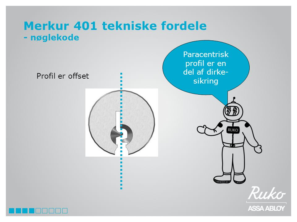 Merkur 401 tekniske fordele - nøglekode