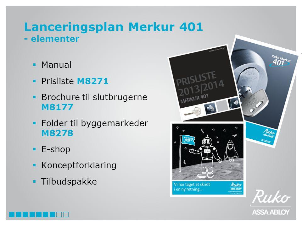 Lanceringsplan Merkur 401 - elementer