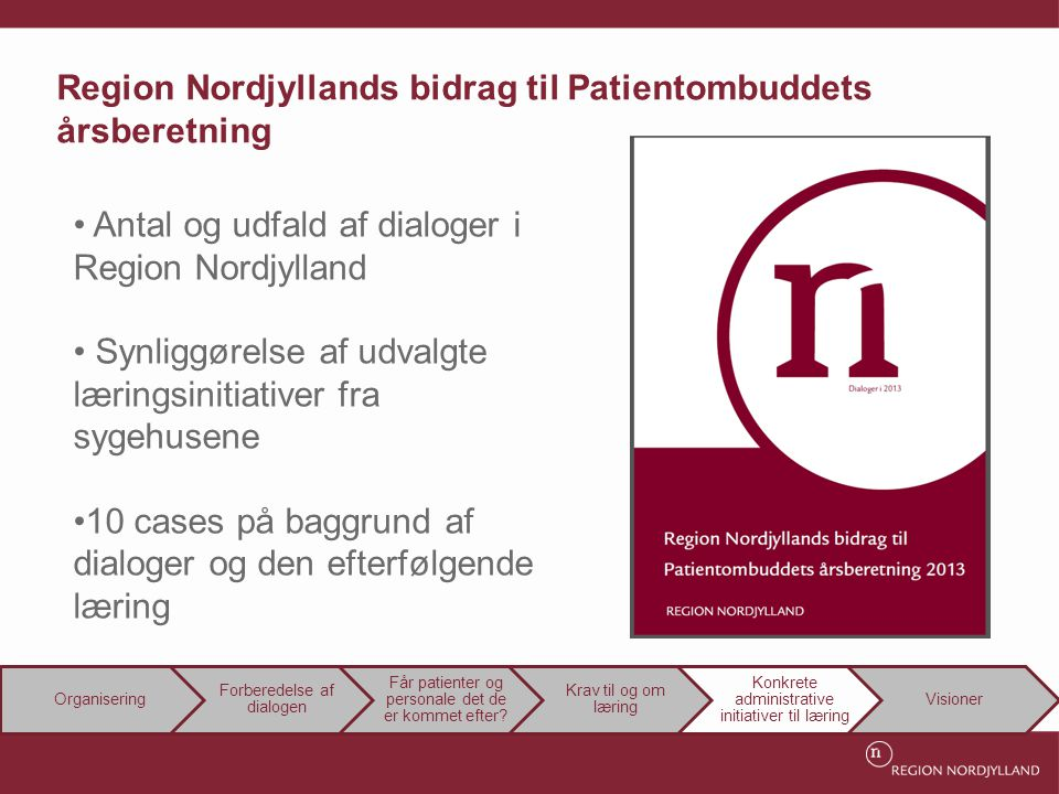 Region Nordjyllands bidrag til Patientombuddets årsberetning