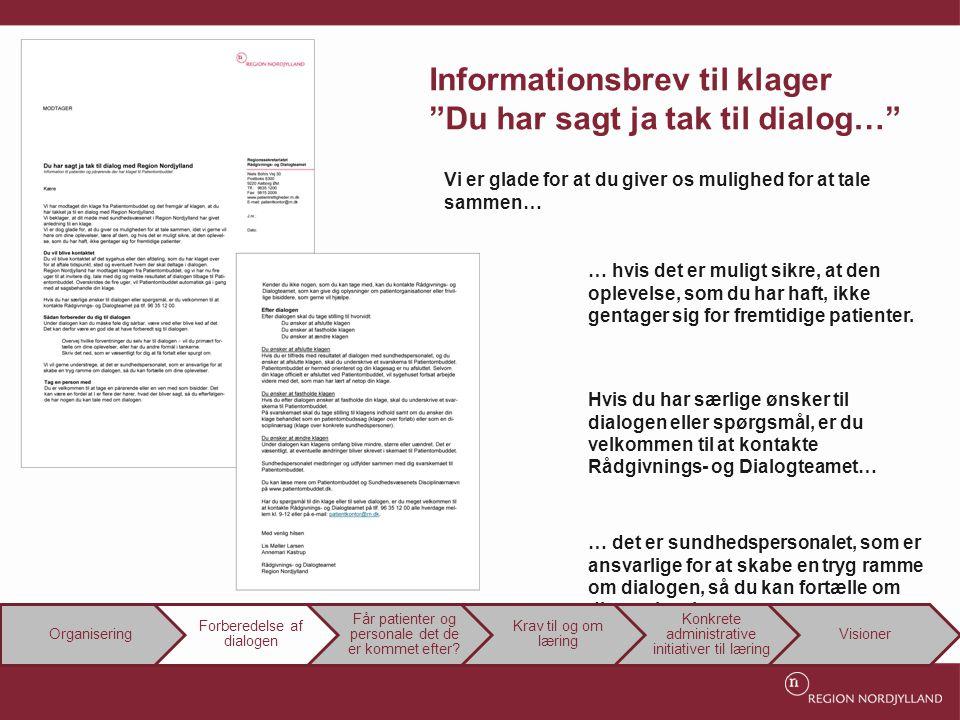Informationsbrev til klager Du har sagt ja tak til dialog…