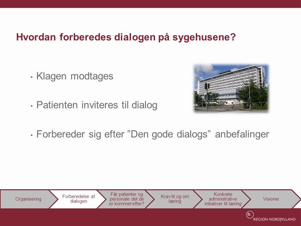 Hvordan forberedes dialogen på sygehusene