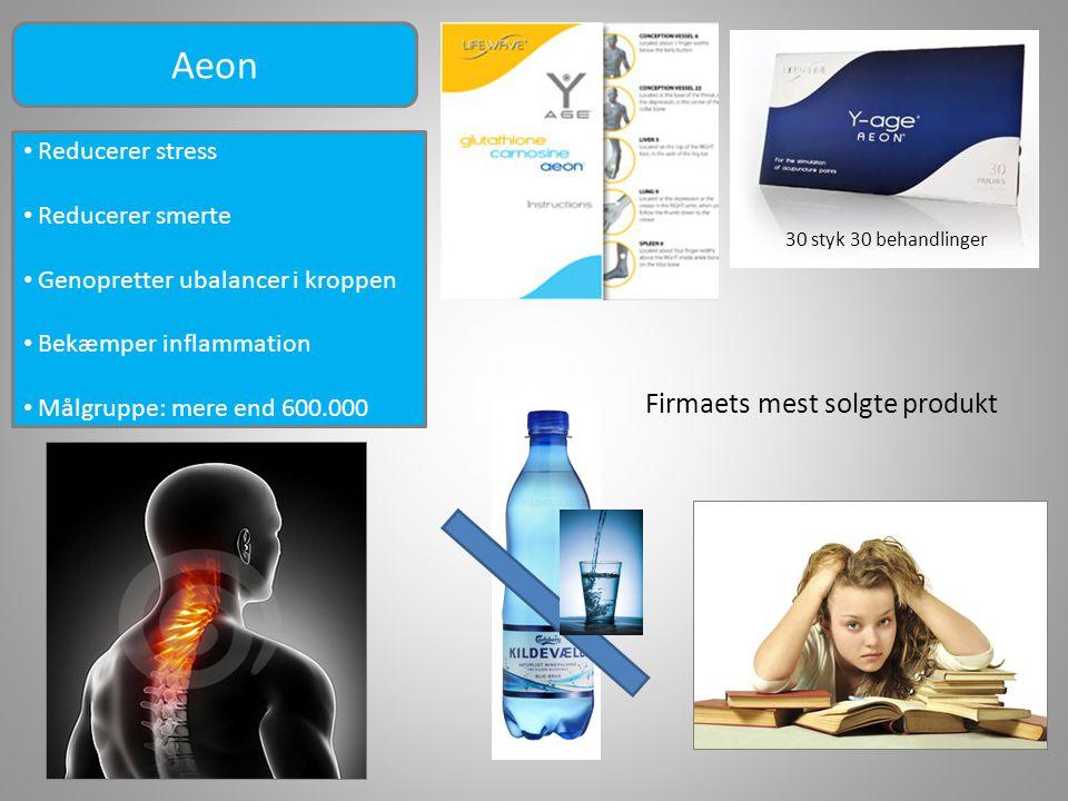 Aeon Firmaets mest solgte produkt Reducerer stress Reducerer smerte