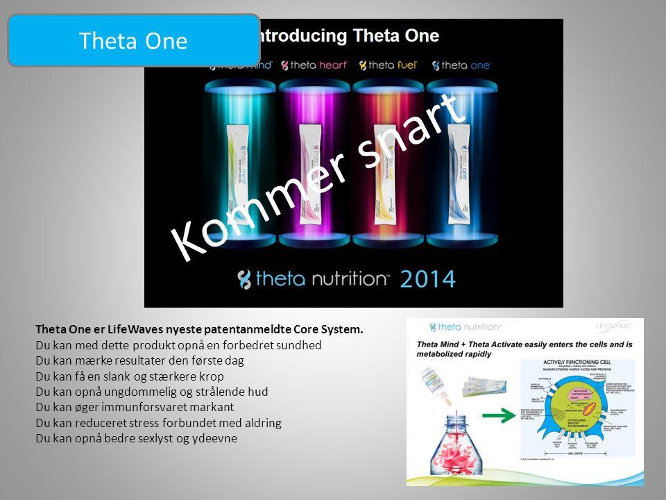 Theta One Kommer snart. Theta One er LifeWaves nyeste patentanmeldte Core System. Du kan med dette produkt opnå en forbedret sundhed.
