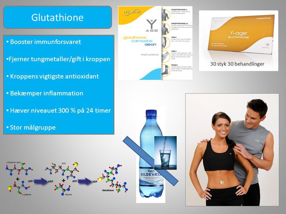 Glutathione Booster immunforsvaret Fjerner tungmetaller/gift i kroppen