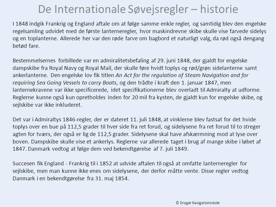 De Internationale Søvejsregler – historie