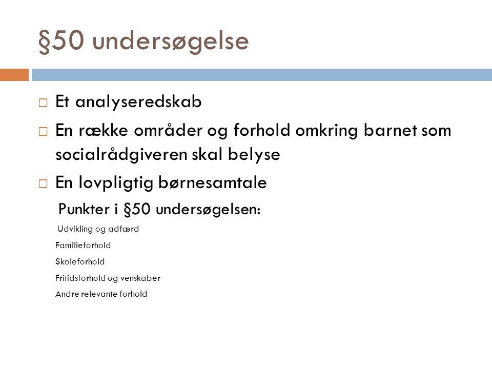 §50 undersøgelse Et analyseredskab