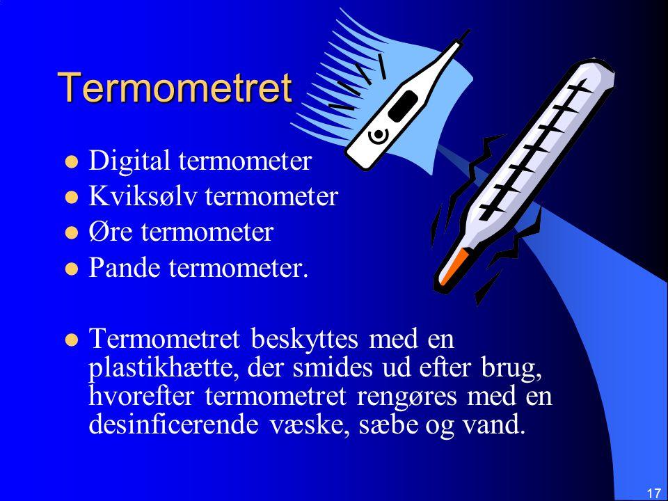 Termometret Digital termometer Kviksølv termometer Øre termometer