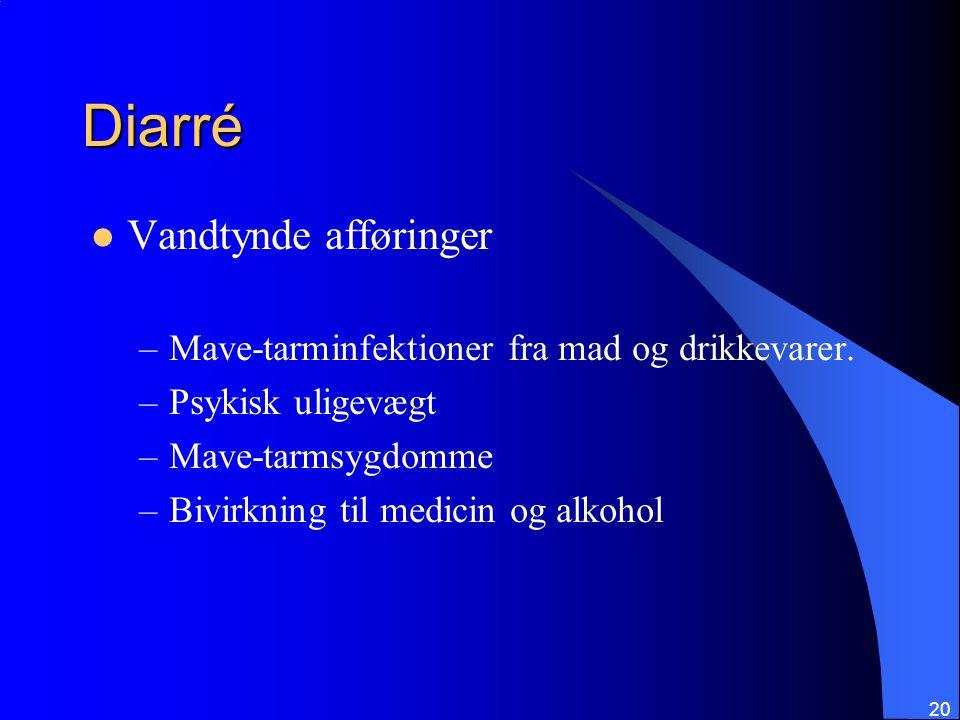 Diarré Vandtynde afføringer