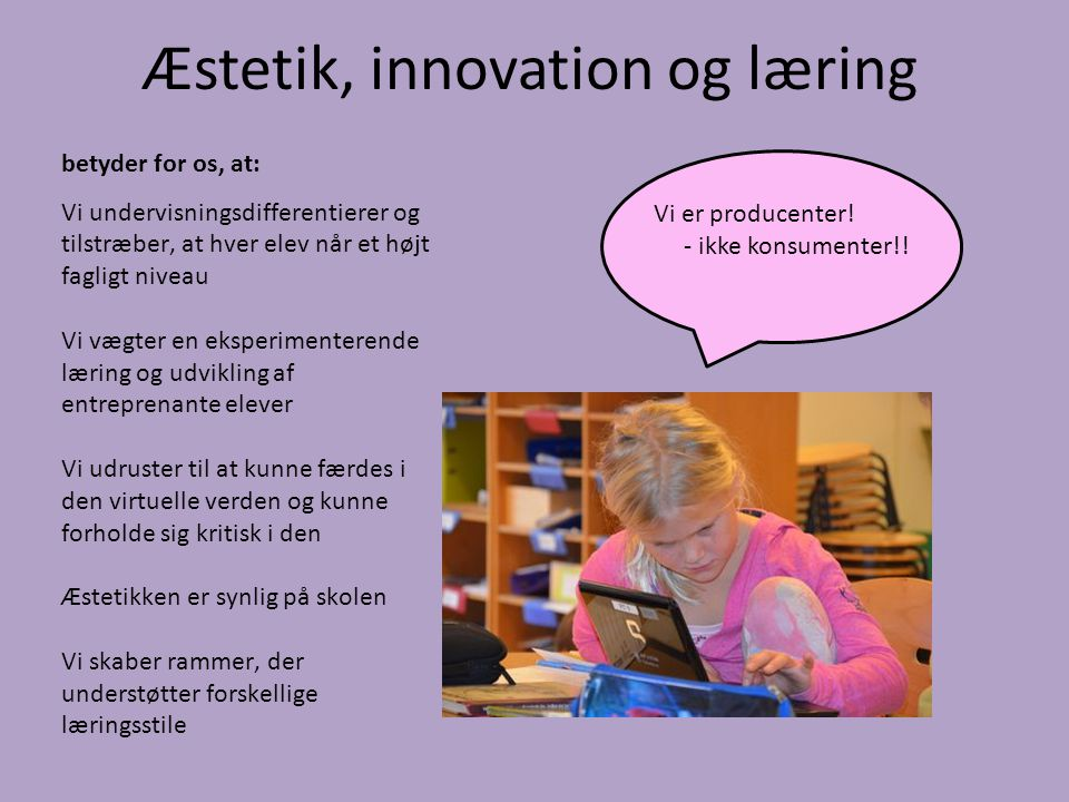 Æstetik, innovation og læring
