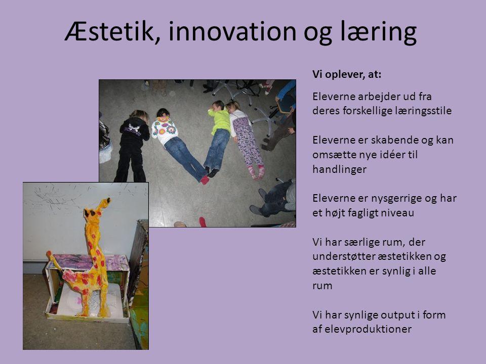 Æstetik, innovation og læring