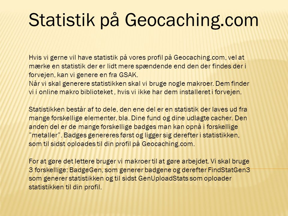 Statistik på Geocaching.com